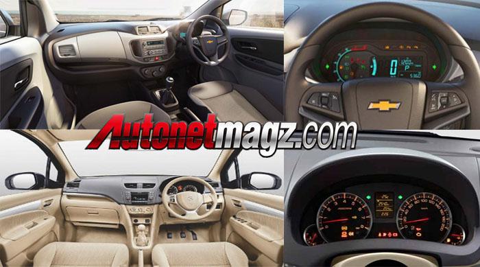 Interior Chevrolet Spin vs Suzuki Ertiga