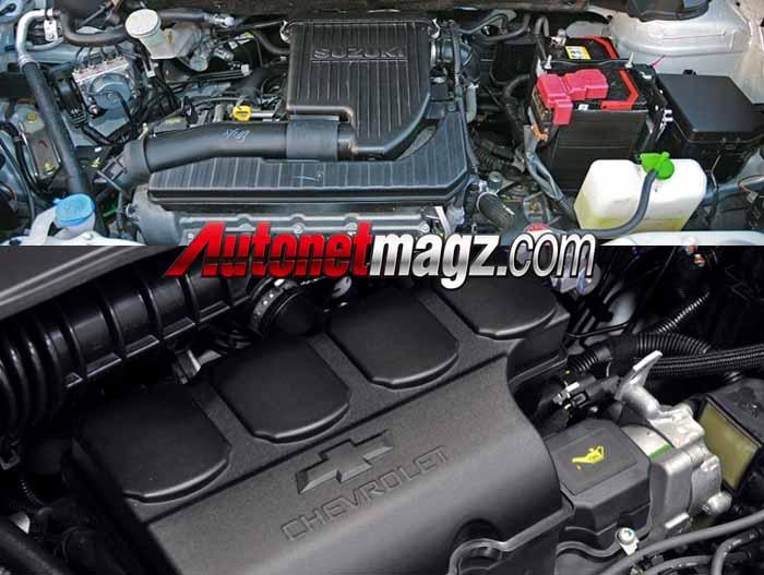 Mesin Suzuki Ertiga vs Chevrolet Spin