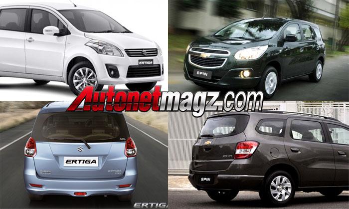 Suzuki Ertiga vs Chevrolet Spin