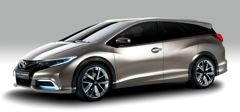 Honda, Honda Civic Tourer Concept: Honda Civic Tourer Concept : Ini Dia Sosok Civic Station Wagon