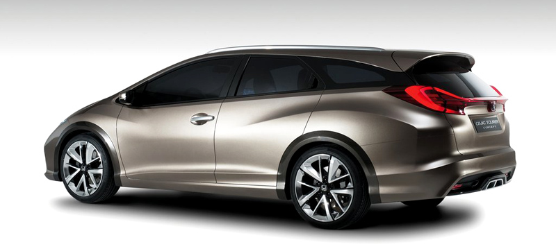 Honda, Honda Civic Tourer station wagon: Honda Civic Tourer Concept : Ini Dia Sosok Civic Station Wagon