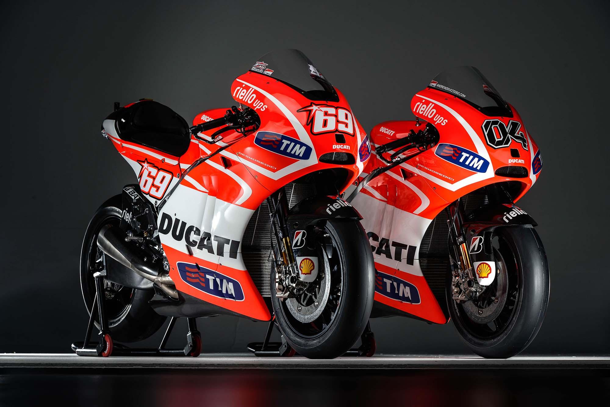 Motor terbaru nicky hayden dan andrea davizioso untuk MotoGP 2013