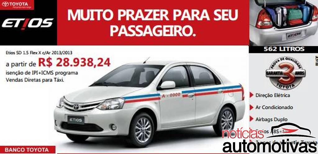 International, Toyota Etios Taxi: Tidak Laku, Toyota Etios Dijadikan Taksi di Brazil