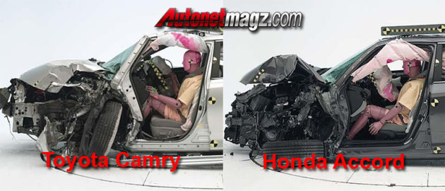 kondisi pasca kecelakaan Honda Accord vs Toyota Camry