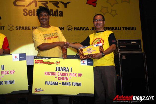 Juara I Carry pick up Keren di acara KABAR Kumpul Akbar Wirausahawan Pengguna Suzuki Carry