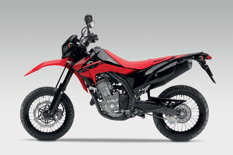 Motor Honda Crf250m Merah Hitam