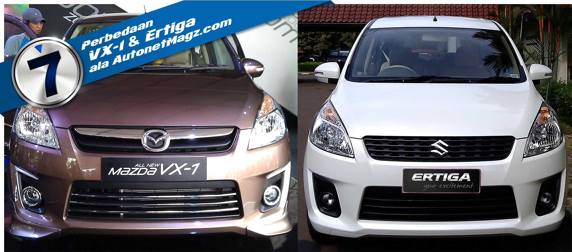 7 Perbedaan Mazda Vx 1 Dan Suzuki Ertiga