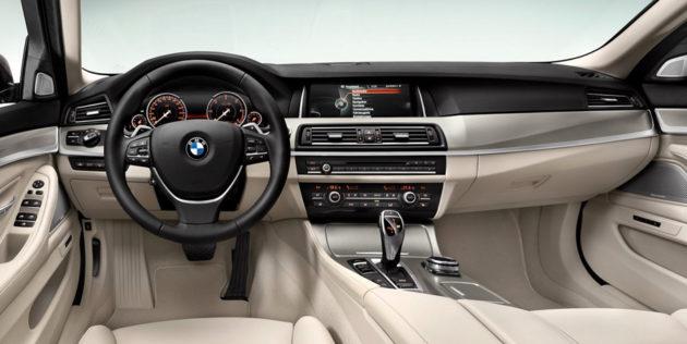 New BMW Seri 5 Facelift dash