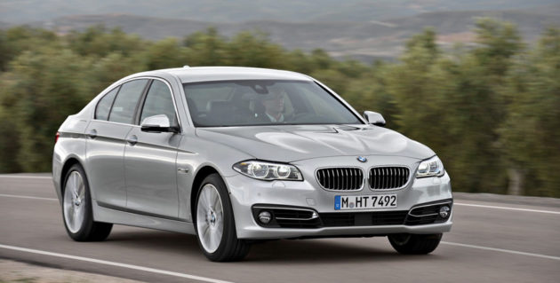 New BMW Seri 5 Facelift silver