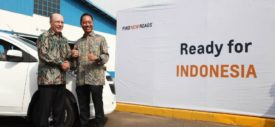 Tim Lee Vice President Global Manufacturing and President International Operations GM meresmikan pabrik General Motors di Bekasi