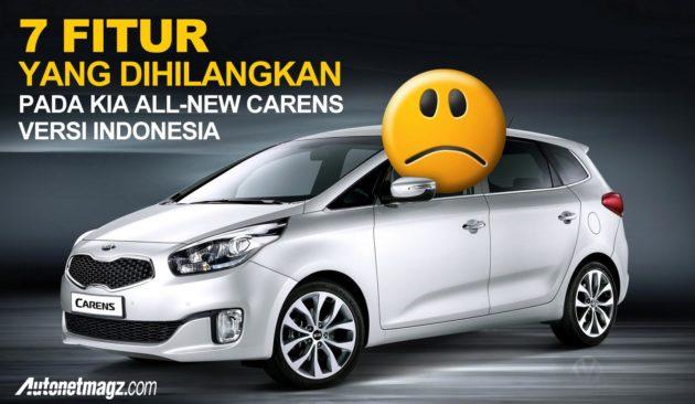 Pengurangan Fitur All-New KIA Carens 2013 Indonesia