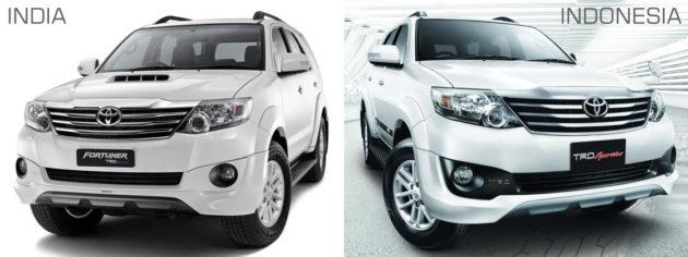 2013 Toyota Fortuner TRD Sportivo Indonesia dan India