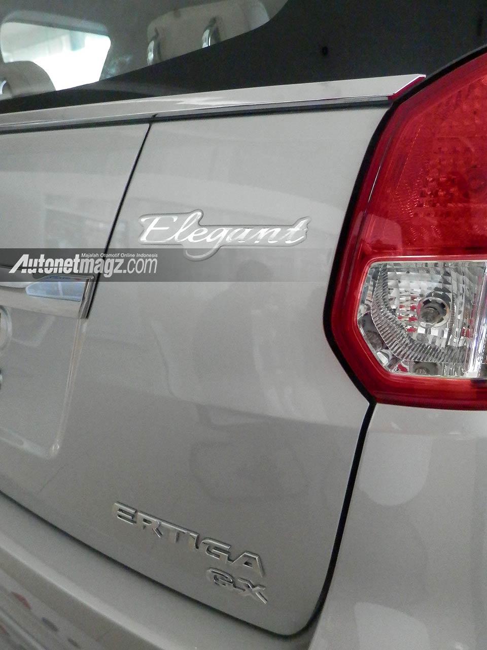 IIMS 2013, Suzuki Ertiga Elegant 2013 emblem: Suzuki Ertiga Elegant Tampil Lebih Mewah [with Video]