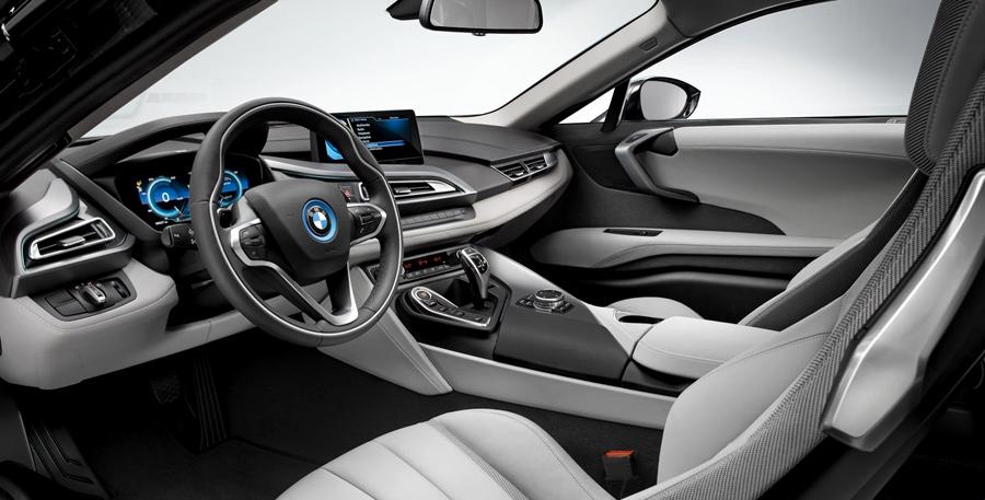BMW, BMW i8 cabin: BMW i8 Electric : Generasi Baru Mobil Sport BMW