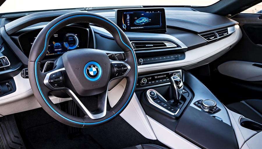 BMW, BMW i8 dash: BMW i8 Electric : Generasi Baru Mobil Sport BMW