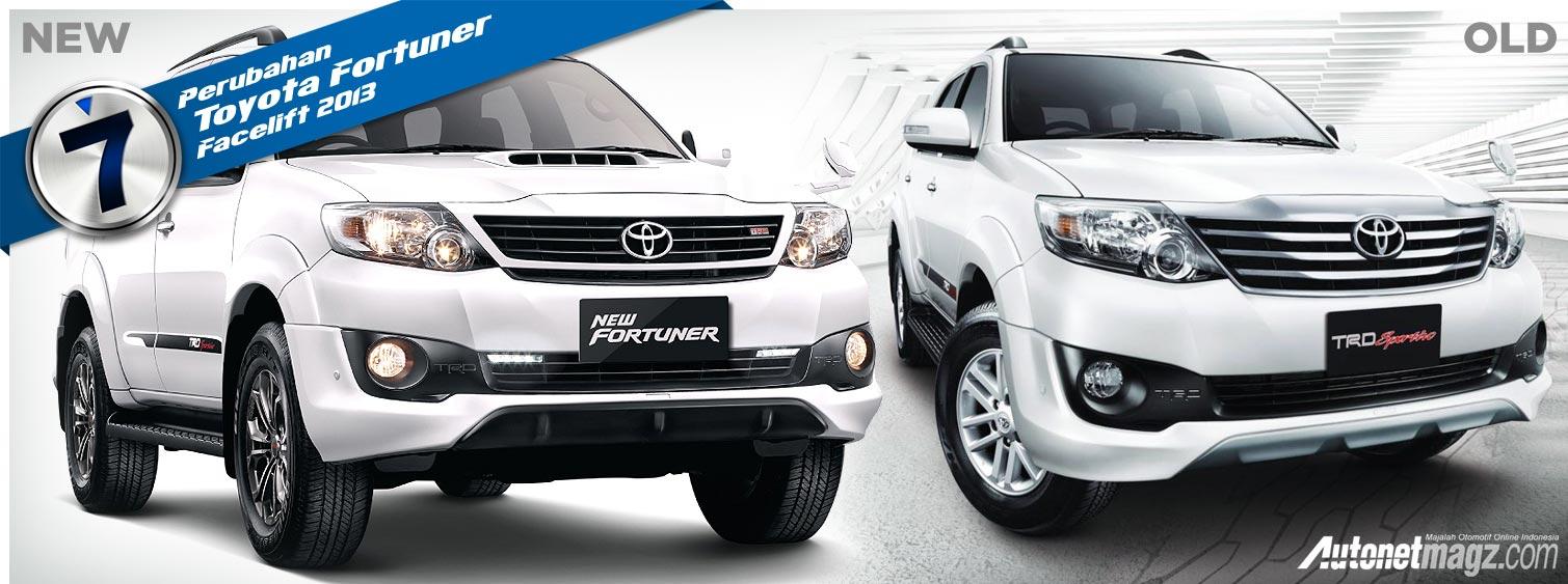 Fortuner Lama Dan Baru: 7 Perubahan Toyota Fortuner Facelift 2013