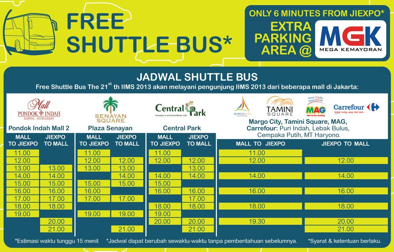 Jadwal Shuttle Bus Iims 2013