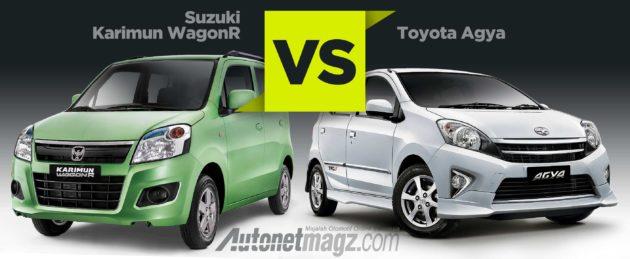 Komparasi perbandingan mobil LCGC Suzuki Karimun Wagon R vs Toyota ...