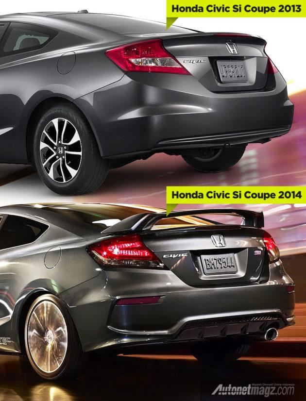 Perbedaan Honda Civic Si coupe 2013 dan 2014
