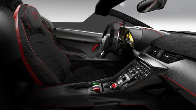 Interior Lamborghini Veneno Roadster 2014