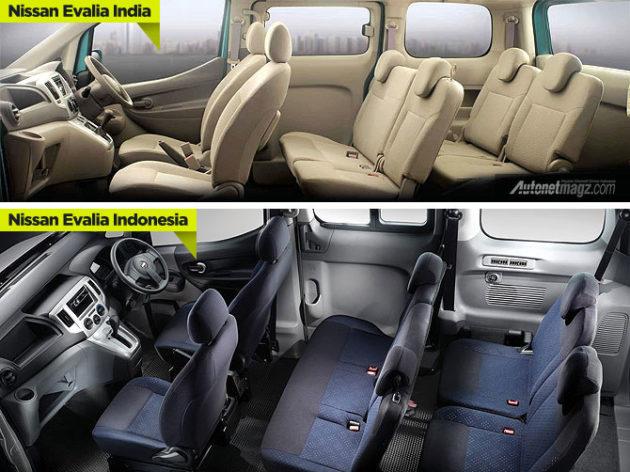 Perbedaan interior Nissan Evalia versi India dan Indonesia