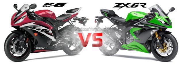 Perbandingan Yamaha R6 dengan Kawasaki ZX-6R
