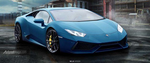 Hasil render Lamborghini Cabrera