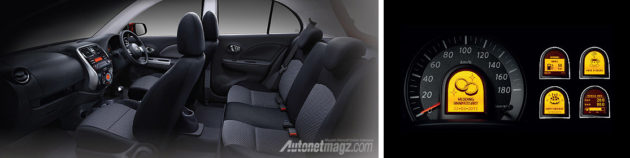 Interior Nissan March tahun 2014