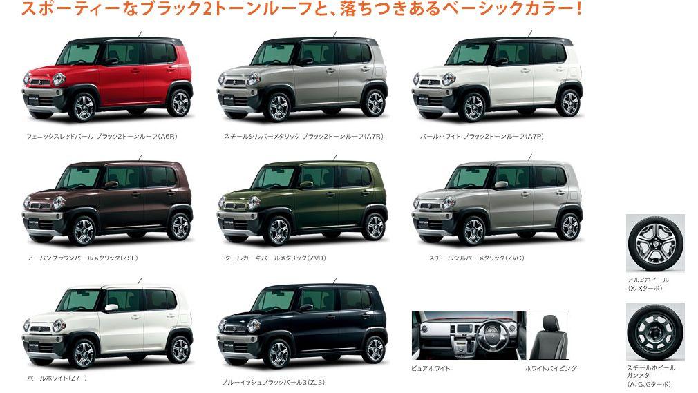 Pilihan warna Suzuki Hustler 2014
