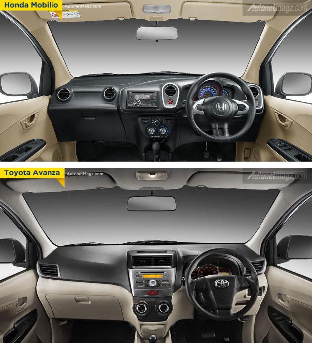 Perbandingan Interior Honda Mobilio dengan Toyota Avanza
