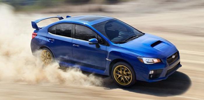 Subaru WRX STi race