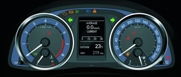 Toyota Corolla Altis 2014 speedometer