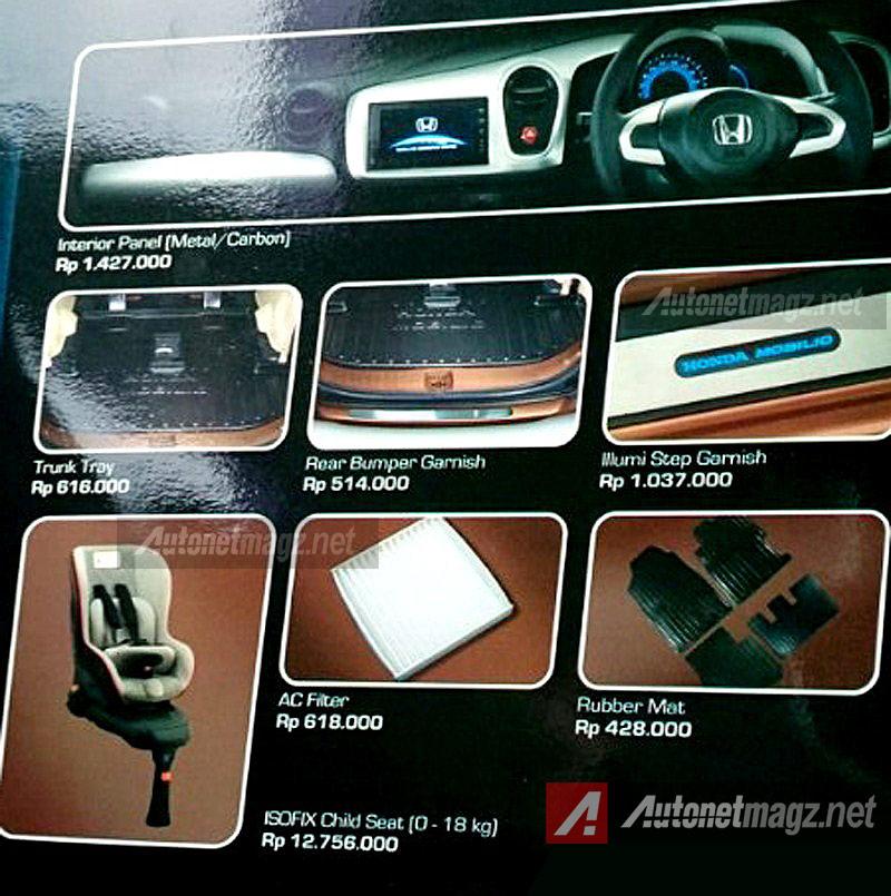 Honda, Accessories Honda Mobilio 2014: Ini Nih Paket Aksesoris Honda Mobilio Modulo!