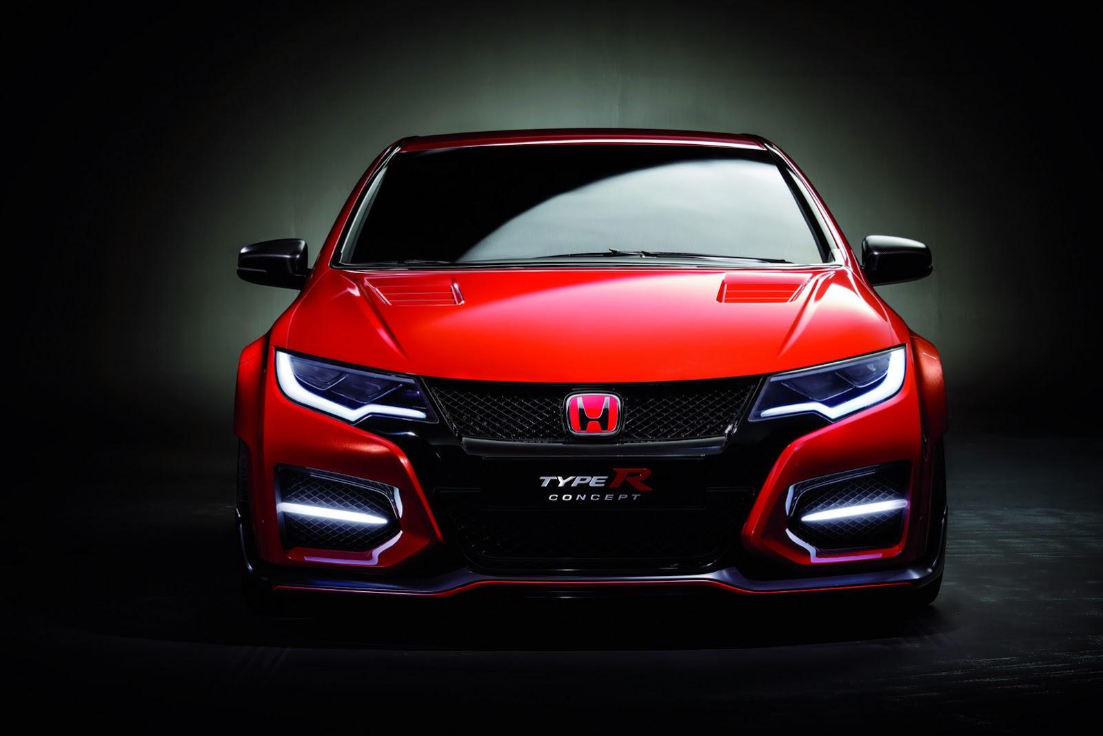 Tampak depan Honda Civic Type R Concept 2015