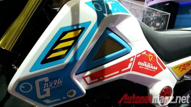Honda MSX 125 Gundam Edition Striping