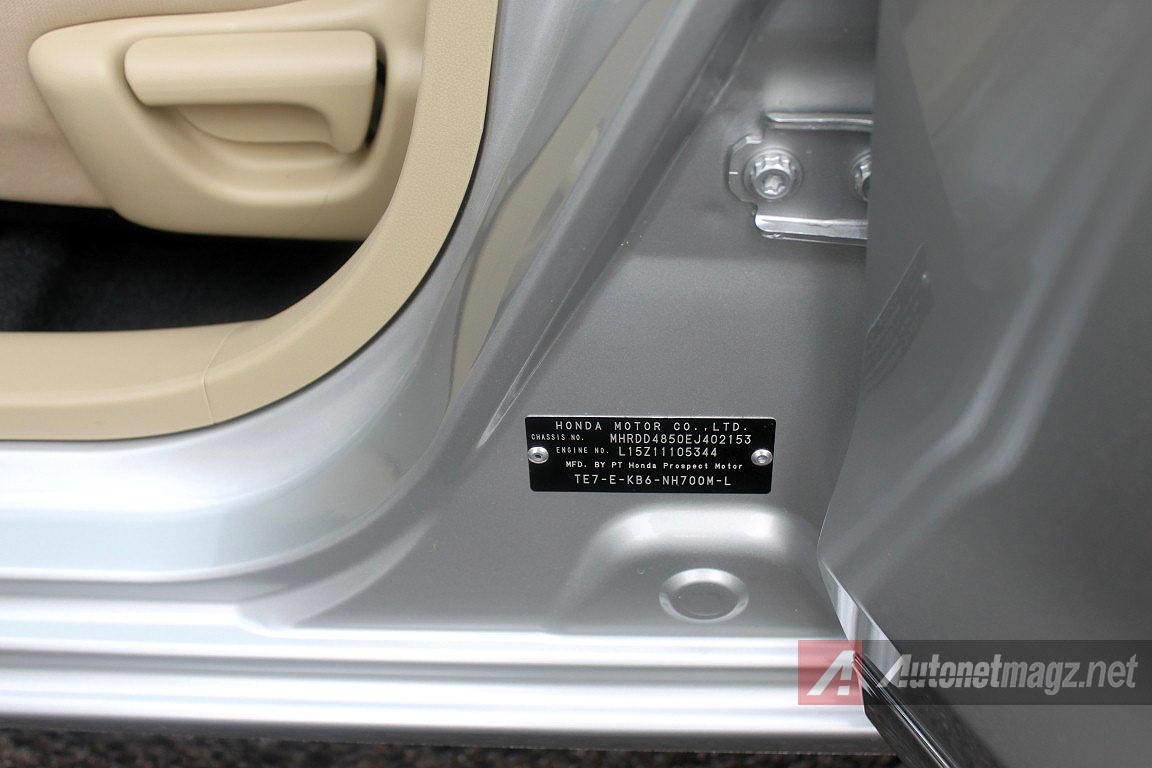 Honda, Letak Posisi Nomer Mesin Dan Nomor Rangka Honda Mobilio: Review