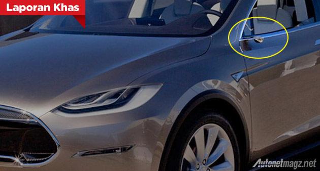Mobil tanpa kaca spion Tesla Model X