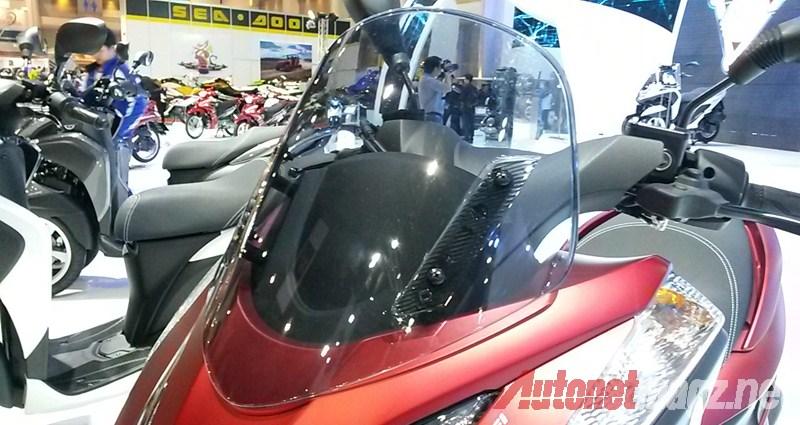Bangkok Motorshow, Yamaha Tricity windshield: First Impression Review Yamaha Tricity dari Bangkok Motorshow