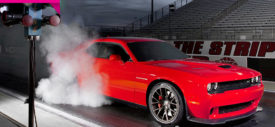 Dodge Challenger SRT burning tyre