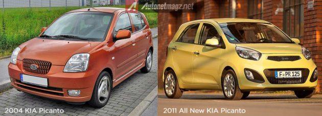 Gambar KIA Picanto lama dan baru