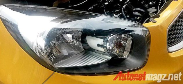 Headlamp detil lampu depan KIA Morning