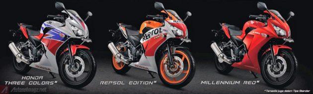 Pilihan warna Honda CBR250R baru 2014