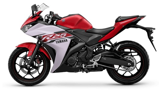 Yamaha R25-warna merah Diablo Red color
