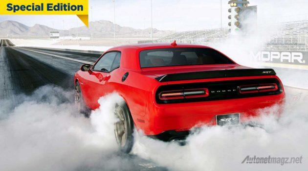2015 Dodge Challenger SRT Hellcat Drag mobil muscle tercepat