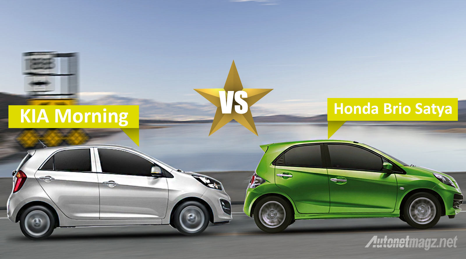 Honda, KIA-Morning-VS-Honda-Brio-Satya: Komparasi : KIA Morning VS Honda Brio Satya