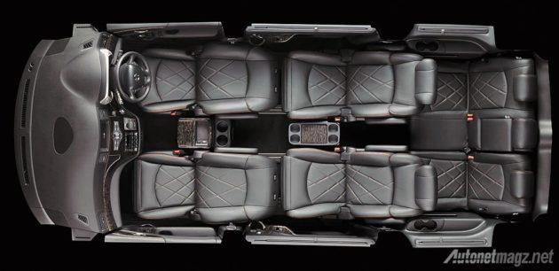 Konfigurasi kursi Nissan Elgrand HWS 2014
