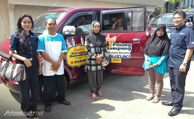Pelepasan peserta mudik Pulang Kampung bareng naik Suzuki APV