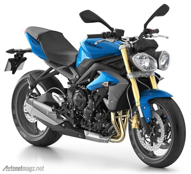 Triumph Street Triple 2014 blue color
