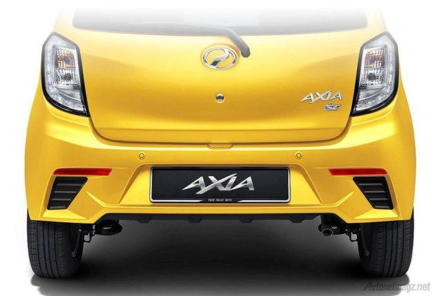 Bumper belakang sporty kembaran Daihatsu Ayla Perodua Axia