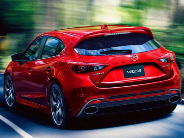 Mazdaspeed 3 Illustration Rear